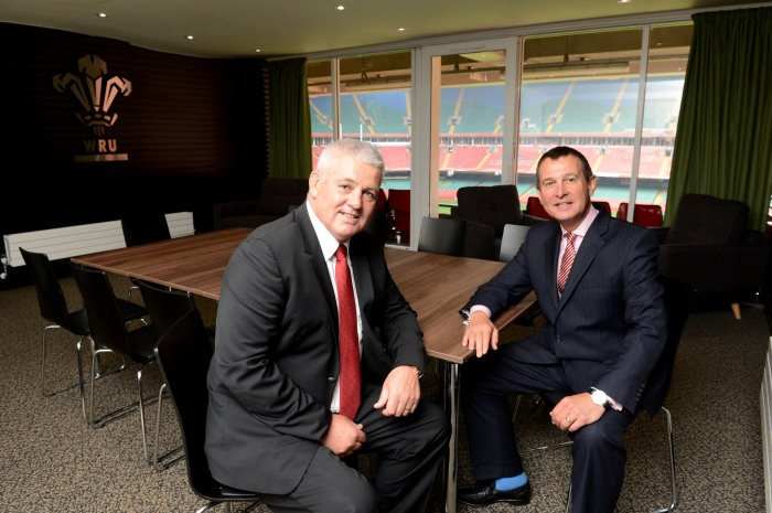 WRU CEO Roger Lewis with Head Coach Warren Gatland, the man he hired in 2007