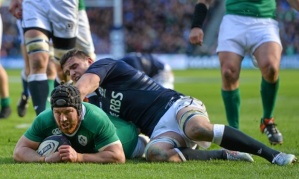 Sean O'Brien's brace saw Ireland overcome a woeful Scotland